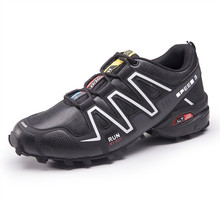 цена 2019 New Arrival Classics Style Men Hiking Shoes Lace Up Men Sport Shoes Outdoor Jogging Trekking Sneakers Hiking Shoes NanX51 онлайн в 2017 году