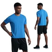Mens T-shirt Sport Fitness Fast Dry Run Shirts Short Sleeve Sportswear Training