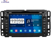 WANUSUAL Car Styling 1024*600 Quad Core 16G 7 Inch Pure Android 4.4.4 Car Radio Player for GMC GPS Navigation with BT WIFI Maps
