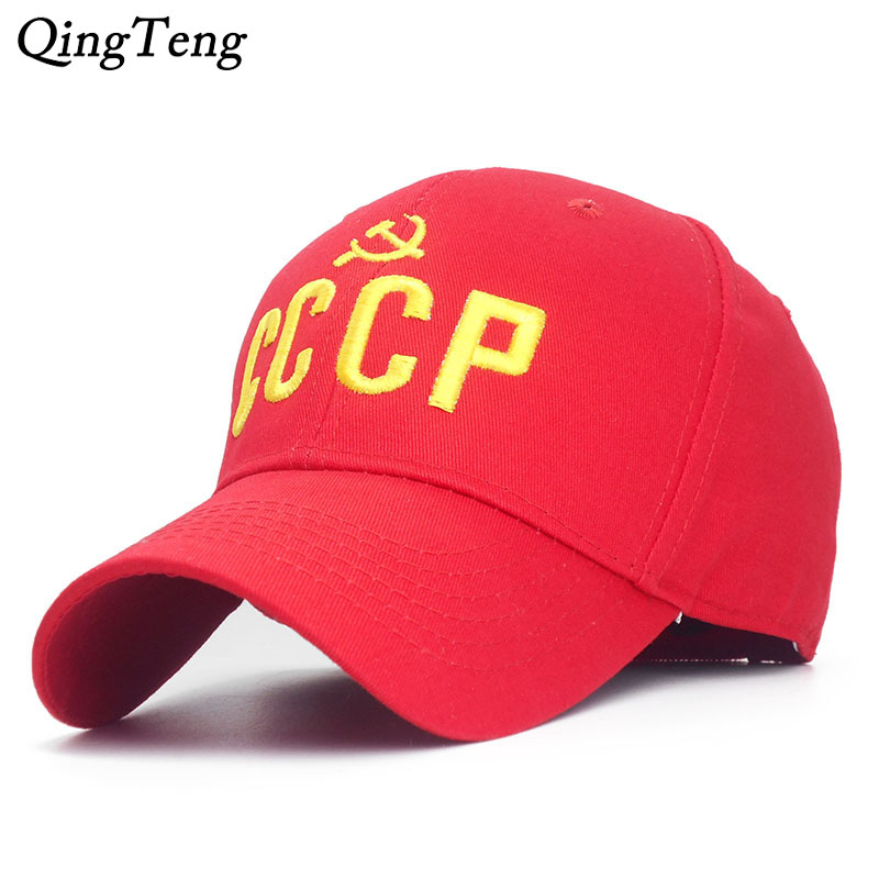 Vintage Soviet Memorial CCCP Men   Baseball     Cap   Russian Ussr Snapback Hats Unisex Adjustable Dad Hat Wholesale