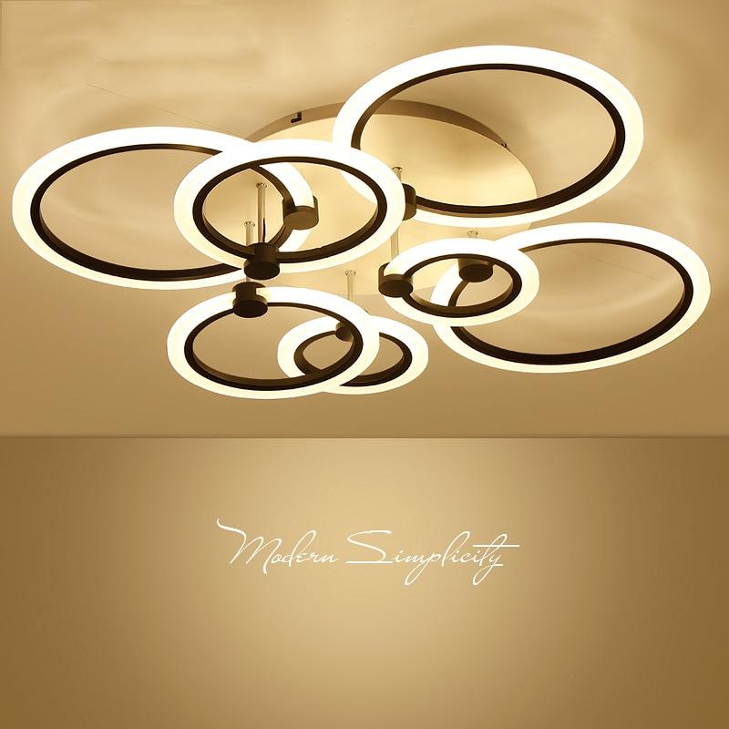 Hete Verkoop Moderne Led Plafond Lampen Woonkamer Acryl Ring Plafond Verlichting Slaapkamer Armaturen Nieuwigheid Armatuur Eetkamer Plafond Verlichting