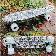 Free Shipping skate street board skateboard trucks four wheel longboard banana fish skate board mini cruiser long Skateboard