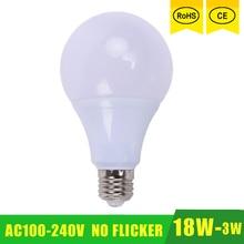 E27 Bulb LED Lamp 18W 15W 12W 9W 7W 5W 3W 110V 220V 230V 240V SMD 2835 Lights Led Light Lighting High Brighness