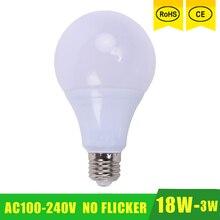 e27 6w 6500k 480 lumen 96 3528 smd led white light bulb ac 220 240v E27 Bulb LED Lamp 21W 18W 15W 12W 9W 6W 3W 110V 220V 230V 240V SMD 2835 LED Lights Led Bulb Bulb Light Lighting High Brighness