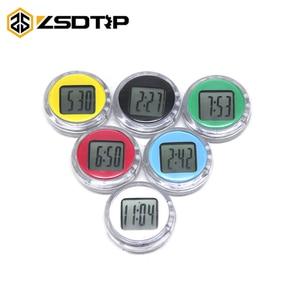 ZSDTRP Universal Motorcycle Clocks Watch Waterproof Motorbike Mount Clock Watch Moto Digital Clock Suit ATV All Moto Colorful(China)