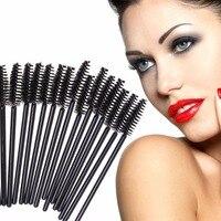Huamianli 50PCS/set Hot Sale 7color Applicator Spoolers Makeup Brush Tool Cosmetic Eyelash Extension Disposable Mascara Wand