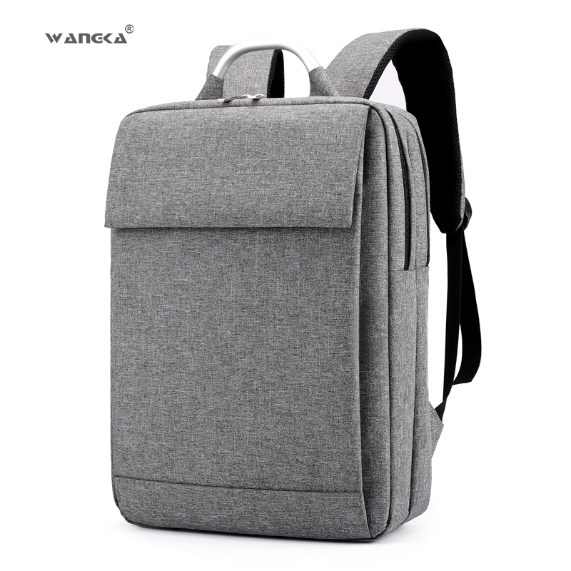 Wangka Fashion Business Men's Laptop Canvas Backpack For 17 Inch School Notebook Bags Women Waterproof Travel Rucksack