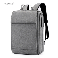 WANGKA Fashion Business Men's Laptop Canvas Backpack for 15.