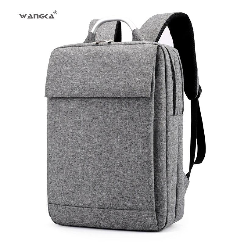 Sporting Wangka Fashion Business Männer Laptop Leinwand Rucksack Für 15,6 Inch Schule Notebook Taschen Frauen 2019 Wasserdichte Reise Rucksack Spezieller Kauf Herrentaschen