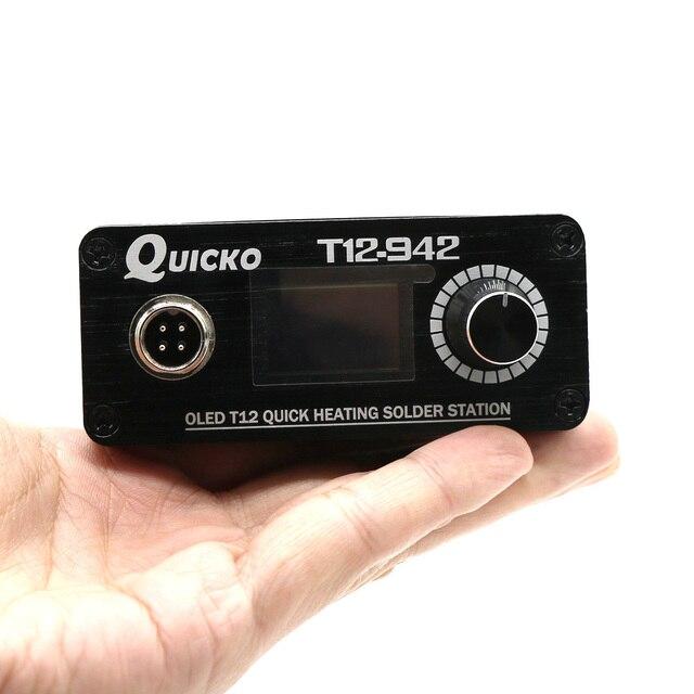 2019 Quicko T12-942 MINI OLED cyfrowa stacja lutownicza T12-907 uchwyt z T12-ILS JL02 BL BC1 KU żelazo porady narzędzie spawalnicze