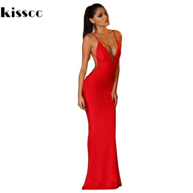 8b1b383fb47d Sexy Backless Hollow Out Bodycon Long Maxi Dress Deep V Neck Off Shoulder  Stretch Prom Party Dress Red Khaki