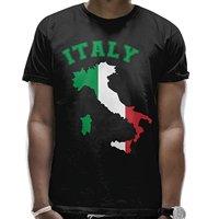 Italy Map Flag Mens Custom Shirts Crew Neck Short Sleeve T Shirts For Men 100 Cotton