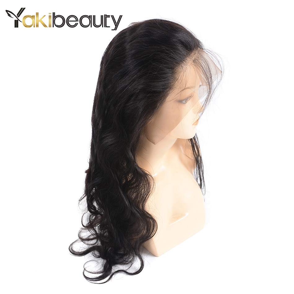 360 Lace Frontal Wig Pre Plucked With Baby Hair Brazilian Body Wave Lace Front Human Hair Wigs 150% Density Full End Yakibeauty