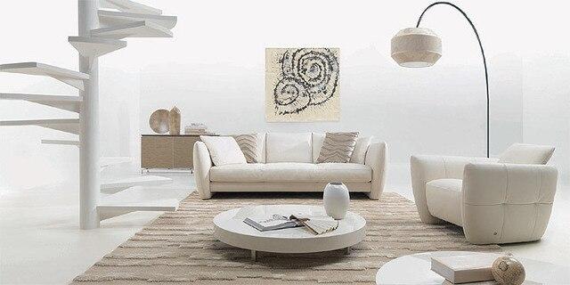 2015 cuero genuino moderno fijó 3 1 asiento m058 color blanco de la ...