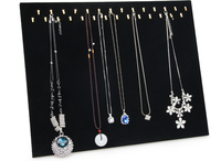 Free Shipping Wholesale 1pcs New Black Velvet Necklace Easel Showcase Holder Jewelry Display Stand