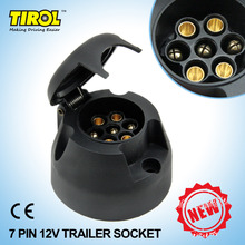 TIROL 7 Pin Trailer Socket  Black frosted materials 7Pole Trailer Socket 12V Towbar Towing Socket N Type T22779a Free Shipping