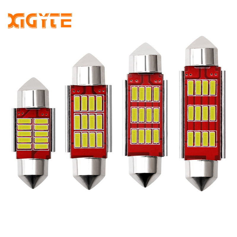 Car Styling 31mm 36mm 39mm 41mm C5W C10W CANBUS Error Free Auto Festoon SMD 4014 LED Car Interior Dome Lamp Reading Bulb White