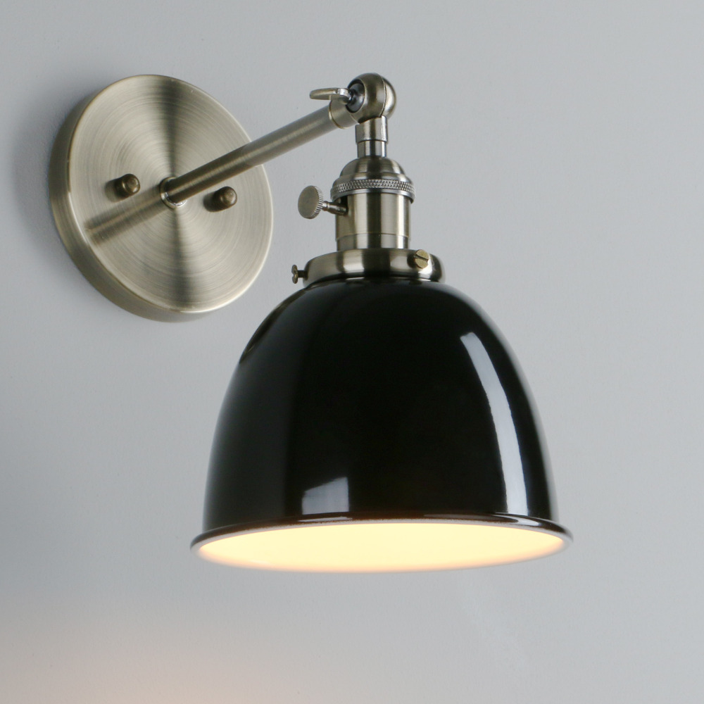 Image 5 - Permo Vintage wandlamp 6.5 Wall Lamps Black Modern Wall Sconce Industrial Stair Wall Light Fixtures New Year Christmas Decor-in LED Indoor Wall Lamps from Lights & Lighting
