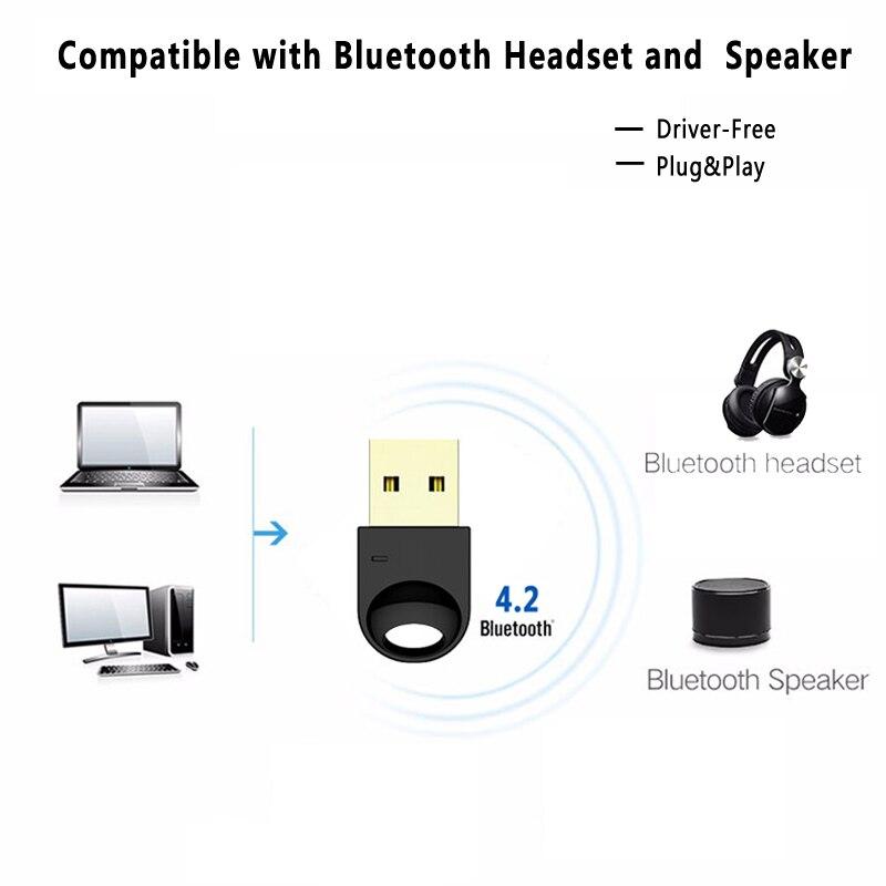 Wireless USB Bluetooth Adapter für Computer Wireless Headset Bluetooth Lautsprecher CSR 4,2 Freies fahrer Bluetooth Dongle/Empfänger