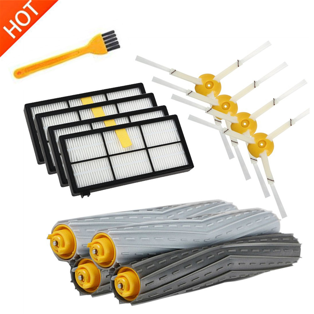 HEPA Filters Brushes Replacement Parts Kit For IRobot Roomba 980 990 900 896 886 870