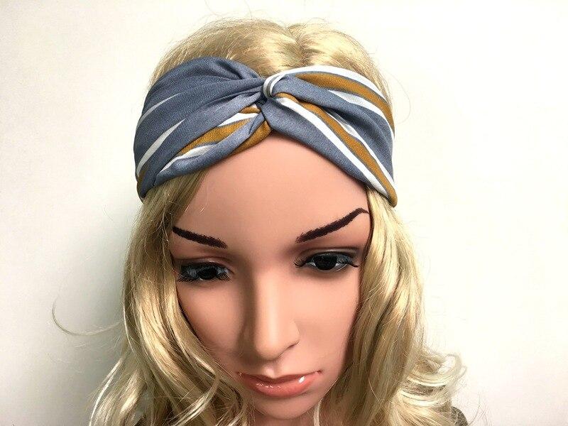 2016 moda cruz fita de impressão senhoras Headband do Headbands nó headwrap turbante headband do cabelo acessórios mulheres reta