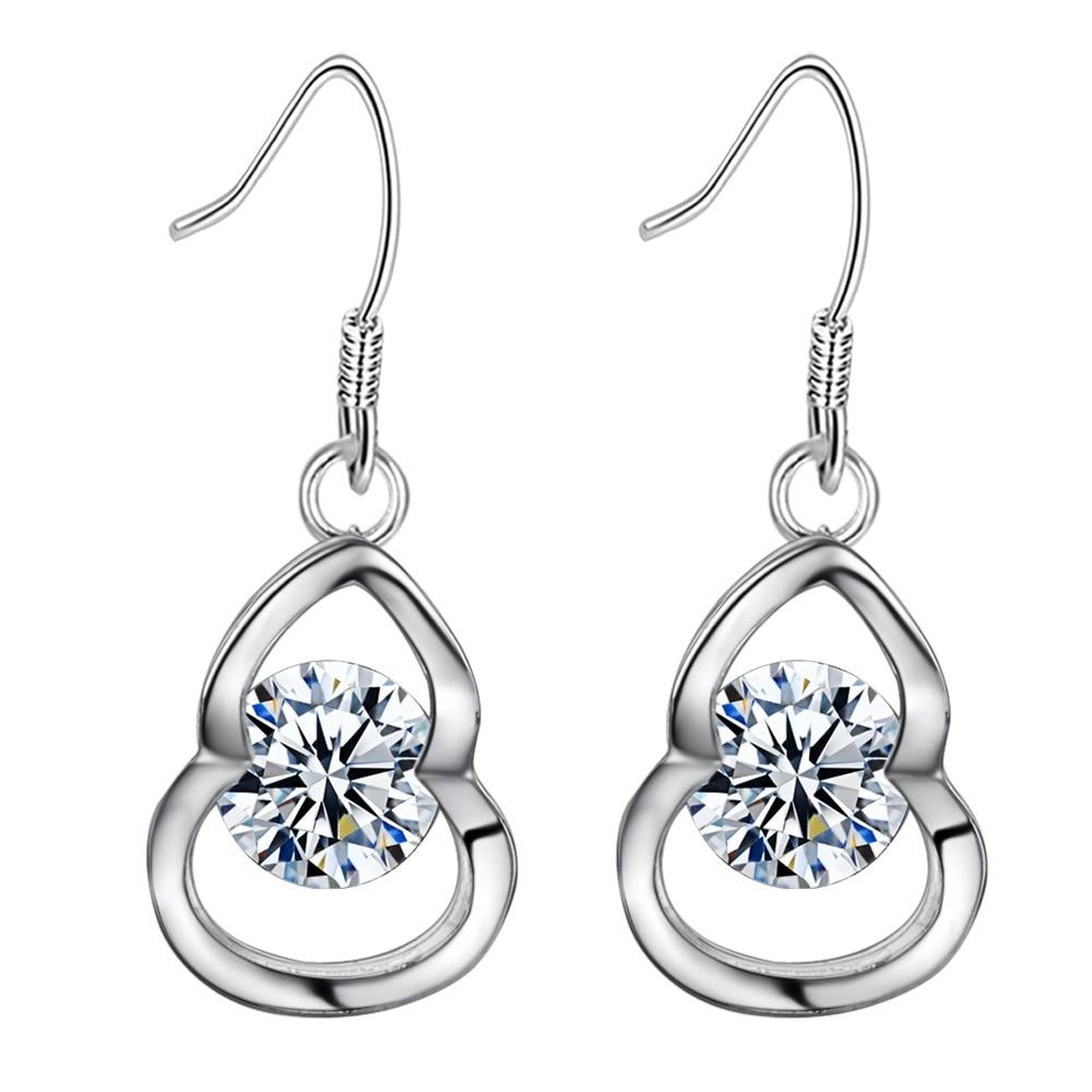 Latest design fashion shiny zircon high quality Silver
