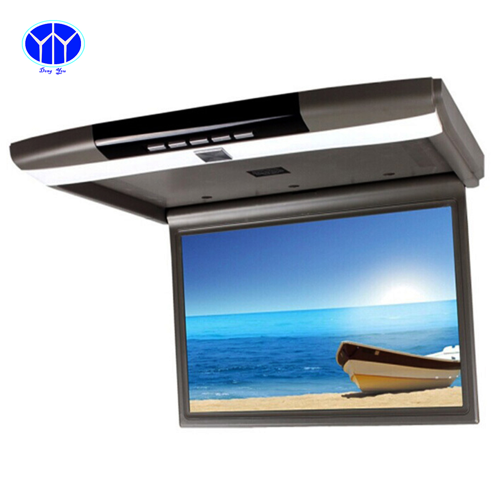 15 6 inch tft lcd car tv monitor roof mount ceiling flip. Black Bedroom Furniture Sets. Home Design Ideas