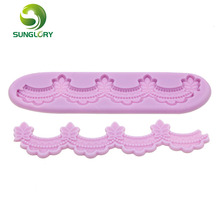 Eco-Friendly 1set Silicone 3D Mold Cookware Dining Bar Non-Stick Cake Decorating Fondant Soap Sugar Lace mold