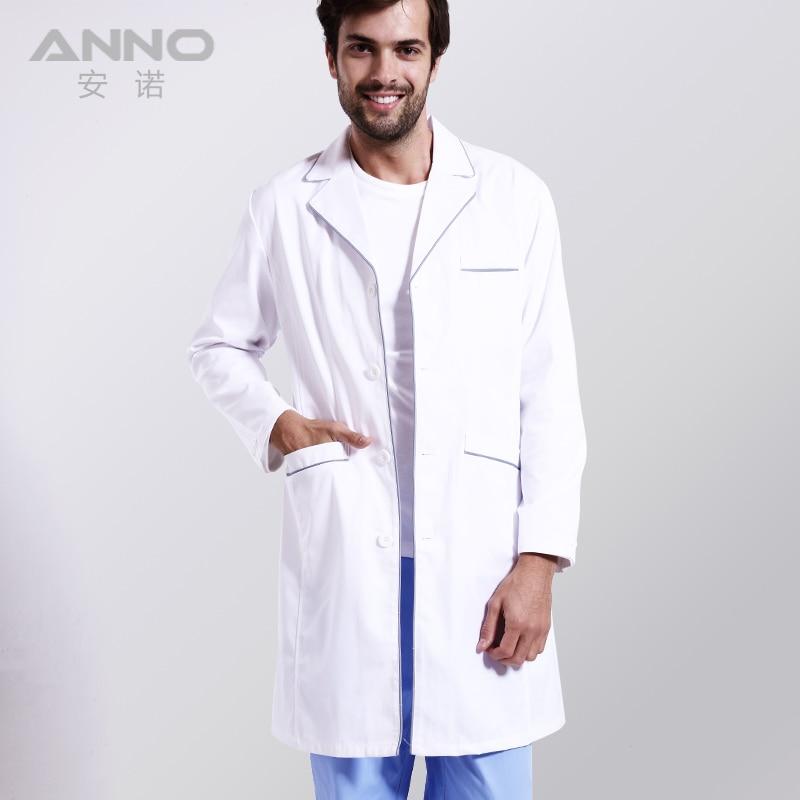 Hombre o mujer blanco médicos laboratorio enfermera del algodón ropa ...