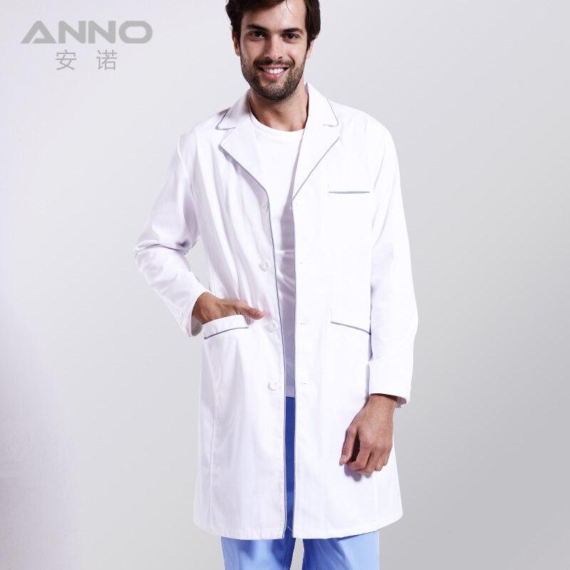 Male or Female White Medical Doctors Lab Coat Cotton Nurse ...