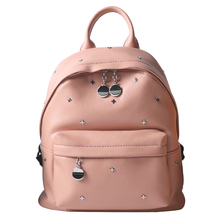Lydztion Для женщин Топ заклепки рюкзак девушка дорожная школьный рюкзак студент Летние PU большой Ёмкость молнии желтый сумка на молнии