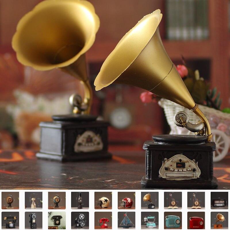 1 stück telefon/kamera/eisen/radio/projektor/gramophone Modell Antike Retro Harz Wohnkultur Handwerk geschenke Vintage Handgemachte Zakka