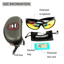 QUESHARK Polarized Fishing Sunglasses Sports Cycling sunglasses TR90 UV Protection Hiking Camping Goggles Fishing Eyewear