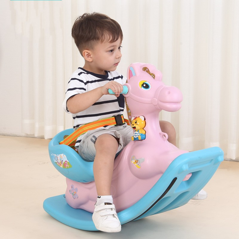 Fashion Children's Toddler Toys Thickening Plastic Rocking Horse Baby Room Toy Rocking Bouncer Ride on Horse Safe Rocking Chair children rocking horse gift baby eating chair music ride on toy cute duck birthday walker amphibious toys 2 kinds of functions