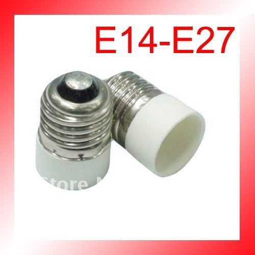 Free UPS Shipping:100pcs/lot lamp holder adapter converter E14 to E27 diameter 28mm h44mm ABS