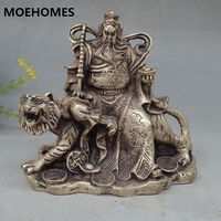 Collectible Decorated Tibet Silver guangong guanyu fengshui statue family decoration gift metal handicraft Statue