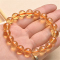 Wholesale 11mm Genuine Natural Yellow Citrine Quartz Crystal Bracelets For Women Femme Charm Stretch Clear Round Bead Bracelet