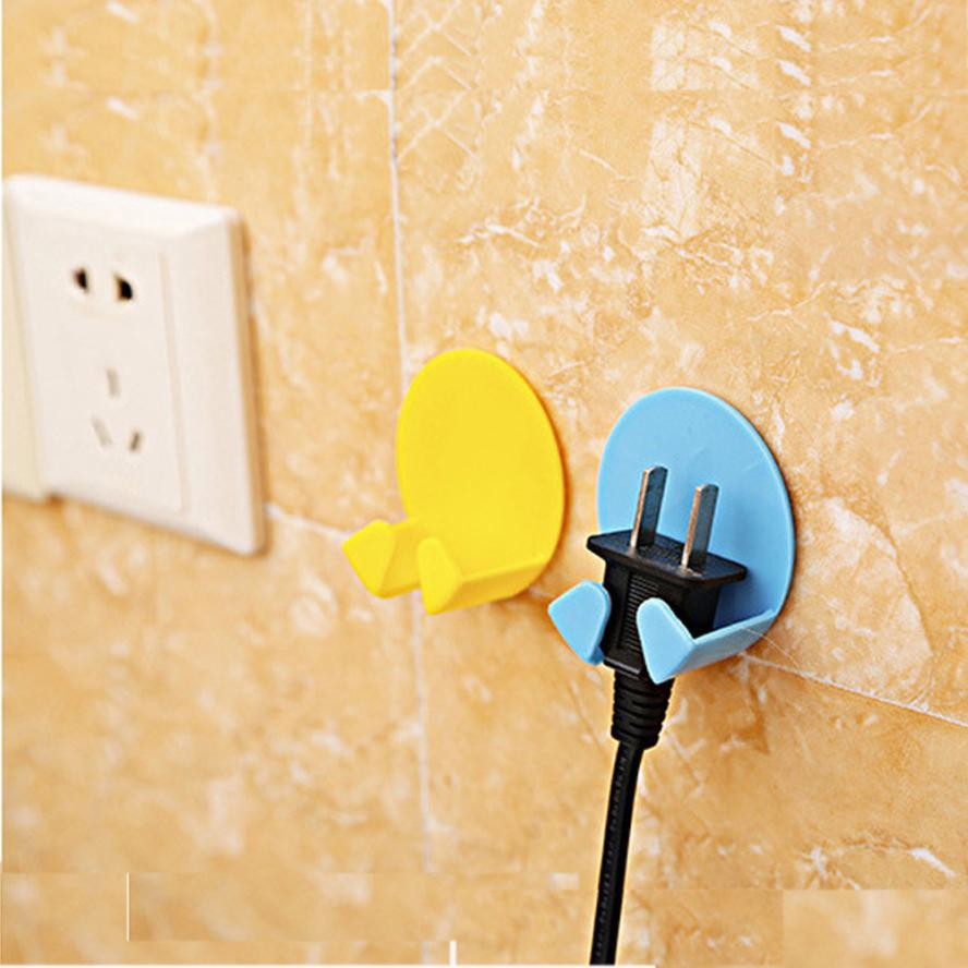 4pcs Socket Power Cord Storage Rack Sticky Hook Plug Holder Double Pothook  Home Storage 3AP25 In Household Cleaning From Home U0026 Garden On  Aliexpress.com ...