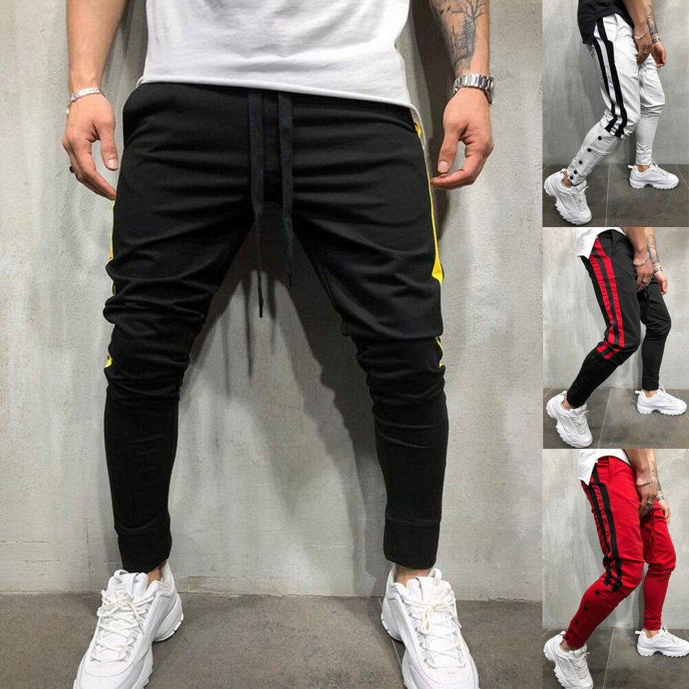 Mens Sweatpants Bottoms-Trousers Tracksuit Jogger Casual Fashion Gym