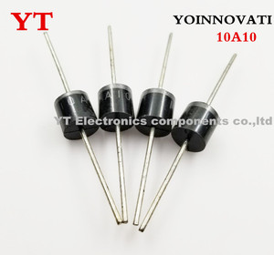 Image 2 - 200 unids/lote 10A10 10A 1000V 1KV 10 R 6 Amp diodo Axial rectificador.