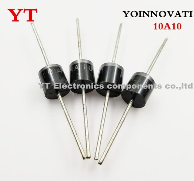 ¿Envío Gratis 100 unids/lote 10A10 10A 1000 V 1KV 10 R-6 Amp Axial diodo rectificador de?