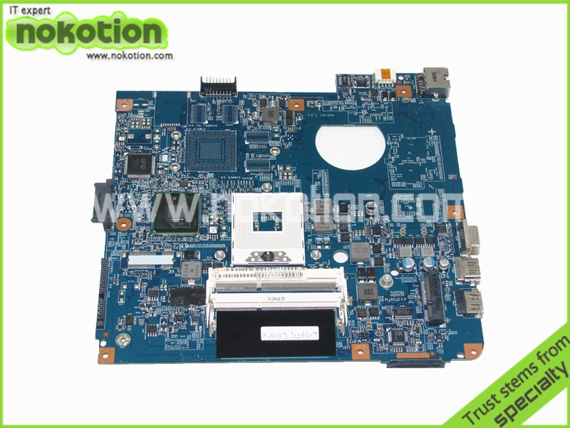 NOKOTION MBTVQ01001 Laptop motherboard for ACER ASPIRE 4741 4741G MB.TVQ01.001 48.4GY02.031 intel hm55 DDR3 free shipping laptop motherboard fit for acer aspire 5551 5551g mbptq02001 mb ptq02 001 new75 la 5912p ddr3 mainboard