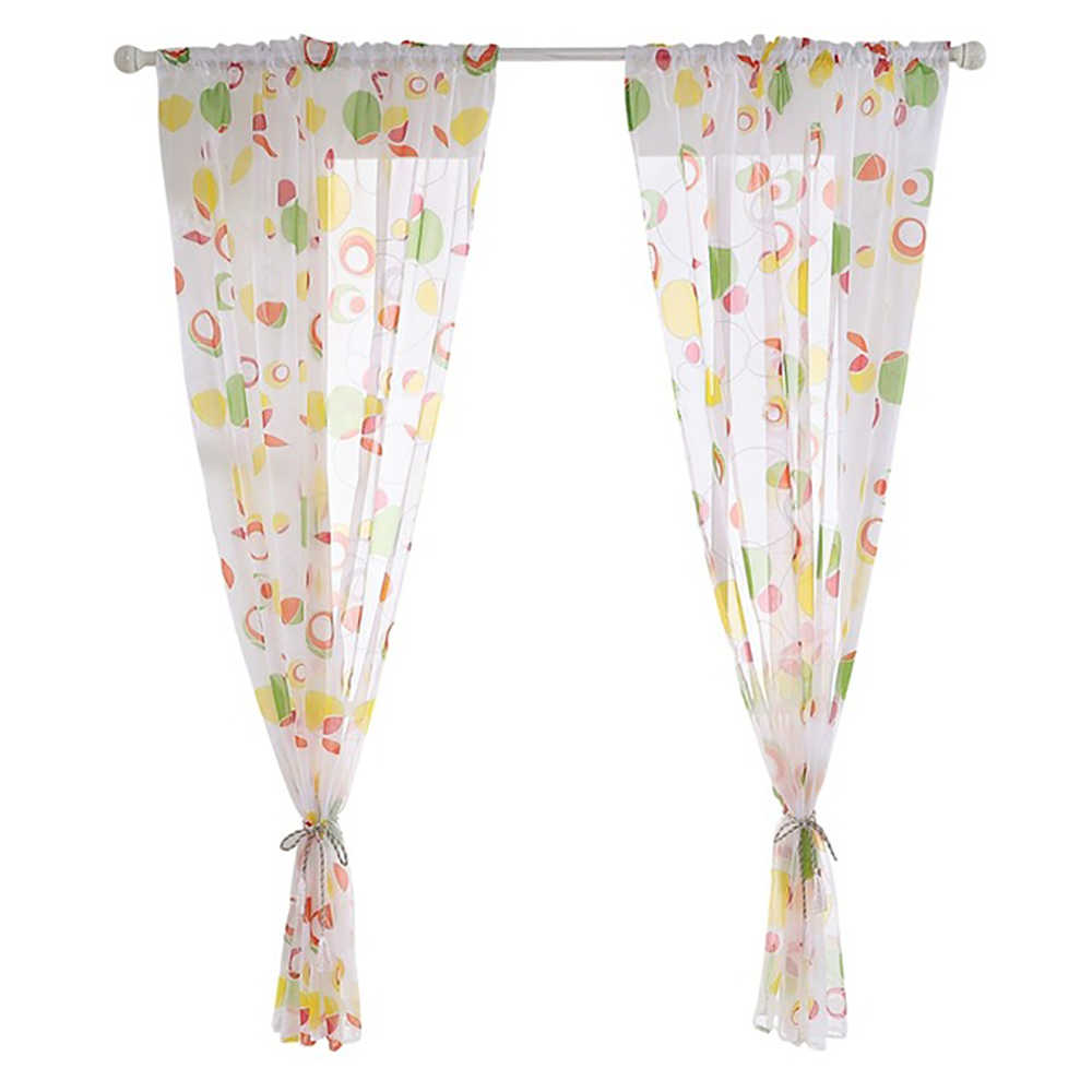 Modern Kitchen Short Curtains String Tulle Window Curtain For Kitchen Living Room Bedroom Baby Room Curtains Drape Panel Sheer