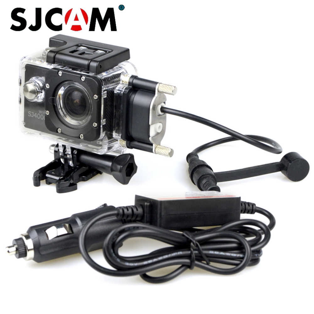 Original SJCAM Accessories Car Charge Motorcycle Waterproof Case for SJCAM SJ5000 Series SJ4000 Series Charging Case For Camera