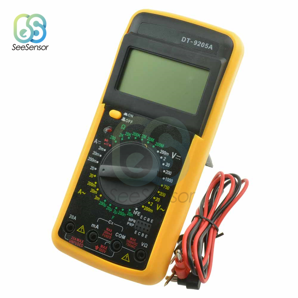 Image 3 - DT9205A Professional LCD Digital Multimeter Electric Handheld Ammeter Voltmeter Resistance Capacitance Tester AC DC-in Multimeters from Tools