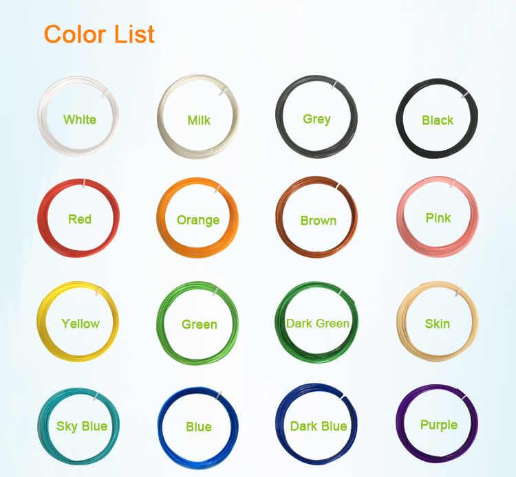 3D печатная ручка материал pla пластик МДФ 5 м случайный 5 цветов 1,75 мм всего 25 метров без ордана без пузырьков Гладкий Термопластик