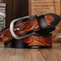 Бесплатная доставка мужчины кожаный ремешок мужской пояс Горячая Продажа!!! новое прибытие мужчины брюки способа пояса воловьей ремни для мужчин