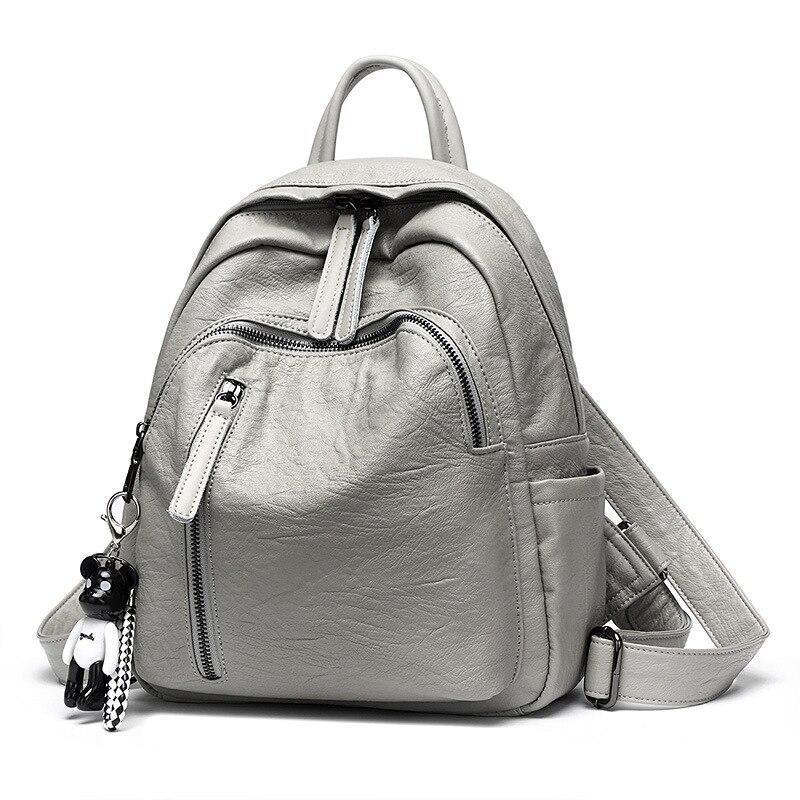 Moda feminina mochila de couro meninas sacos de ombro mochilas casuais mochila feminina viagem ladeis volta pacote 2019 c957