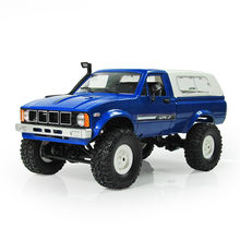 WPL C-24 1/16 4WD 2.4g Militaire Truck Buggy Crawler Off Road RC Auto 2CH RTR Speelgoed Kit Zonder Elektrische onderdelen DIY RC Model Blauw Rood(China)