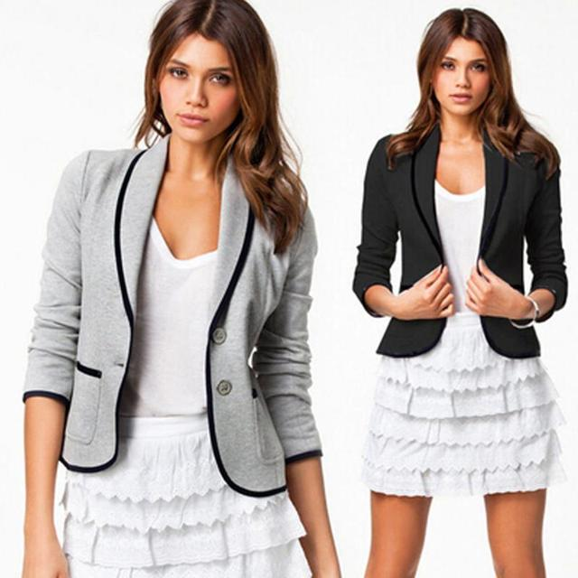 2016 New Spring Women Clothes Women Blazer Long Sleeve Women Blazer Single Breasted Fashion Casual Small Suit  Basic Jacket